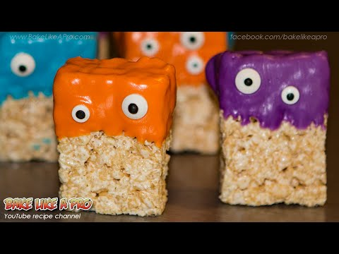 Easy Halloween Rice Krispies Monsters Recipe