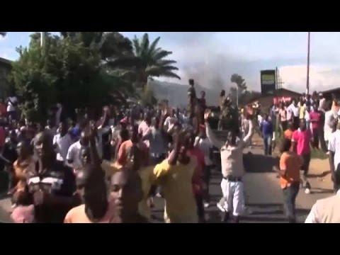 Burundi police fire on anti Nkurunziza protesters