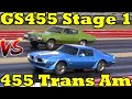 Trans Am 455 HO v Buick GS 455 Stage 1 - Burnout & 1/4 Mile Drag Race x 2 - Road Test TV