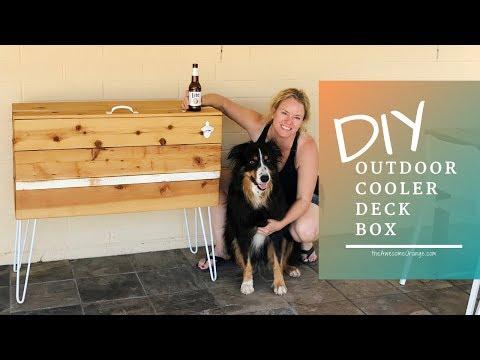 DIY Outdoor Cooler Deck Box | Outdoor Furniture
