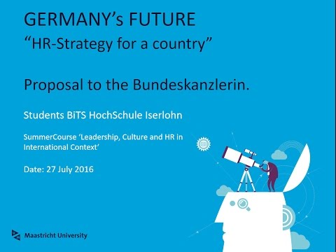 Proposal to the Bundeskanzlerin: Strategic Human Resources a