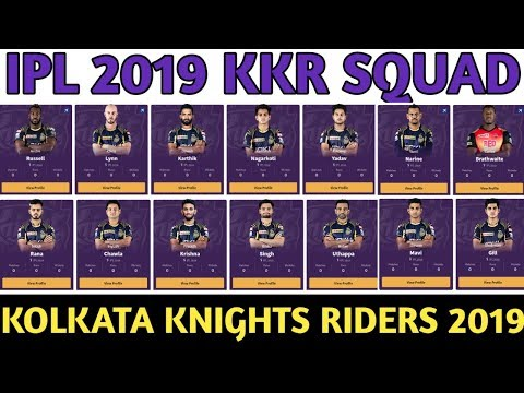 IPL 2019 Kokata Knights Riders Team Squad | KKR Confirmed And Final Squad For IPL 2019