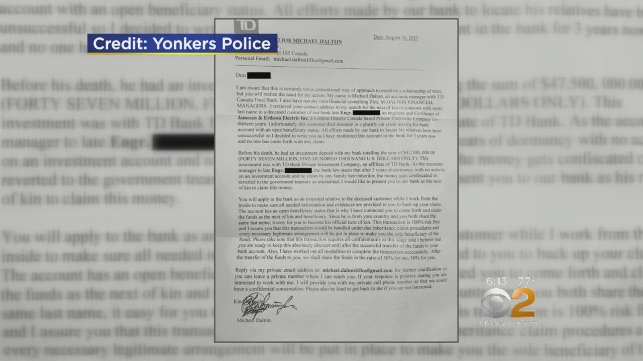 consumer alert bank letter mail scam circulating in yonkers youtube