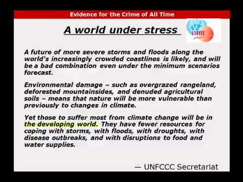Crime of  All Time:  Changing the Climate (Cancun Climate Conference)