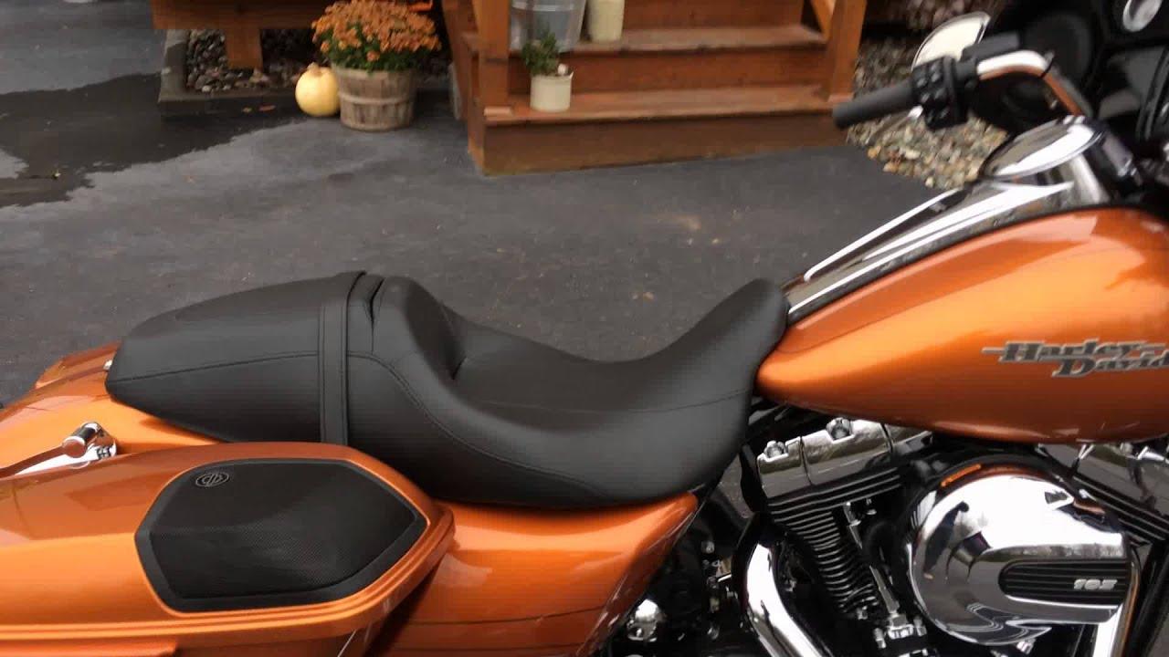 2014 Amber Whiskey Harley Davidson Street Glide With Boom Audio Upgrade Eddie Vegas