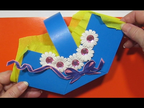 видео: Сделать Корзинку Из Бумаги Своими Руками Оригами На День Рождения 8 Марта Пасху Поделки с детьми!