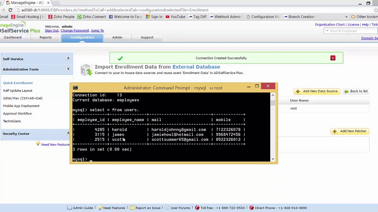 How to automatically enroll users for self-service password reset -  ADSelfService Plus demo