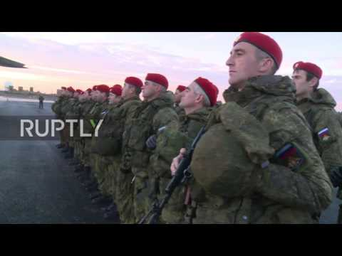 Syria: Russian military police arrives to Syria to protect humanitarian personnel in Aleppo