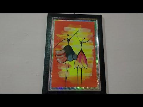 Dancing dolls painting, modern art dolls, dancer painting, #MyHobbiesandFunZoneGarimaRashmiAsati#