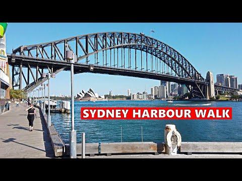 SYDNEY HARBOUR Walk : Walking Under SYDNEY HARBOUR BRIDGE To Luna Park | Australia
