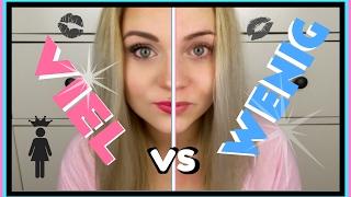VIEL vs. WENIG MAKE UP   Blond_Beautyy