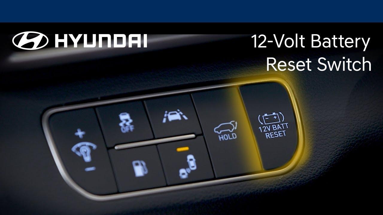 How To Use The Battery Reset Switch Nexo Hyundai Youtube