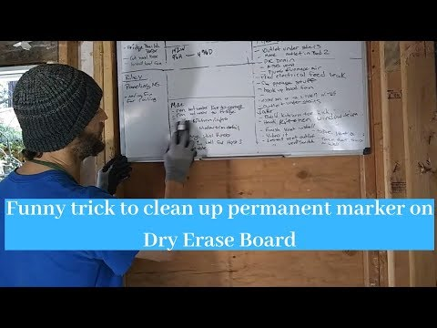 Funny trick to clean up permanent marker on Dry Erase Board.