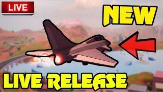 🔴 Jailbreak NEW FIGHTER JET PLANE LIVE RELEASE!?!?! | New Update IS HERE!! | Roblox Jailbreak Live