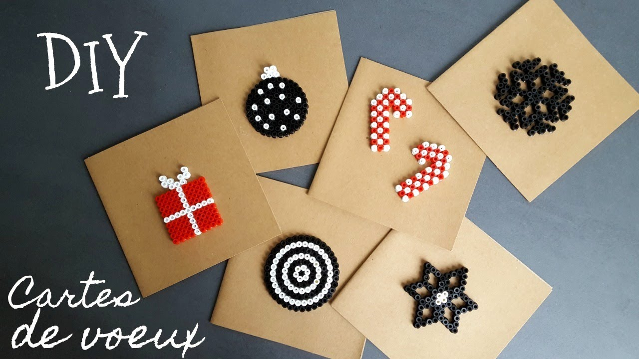 Diy d co no l cartes de voeux menus youtube Decoration carte de noel