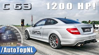1200HP C63 AMG by GAD Motors | 0-309km/h ONBOARD & 1/2 MILE by AutoTopNL