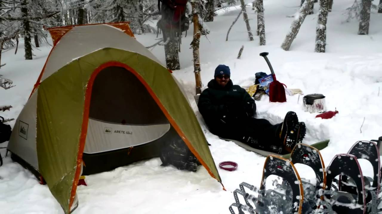 White Mountains winter camping (March 2011) - YouTube