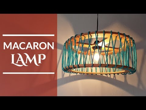 Macaron Pendant Lamp wood - Diy  (English Subtitles)