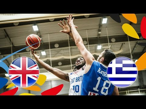 Great Britain v Greece - Full Game - Class. 9-16 - FIBA U20 European Championship 2018