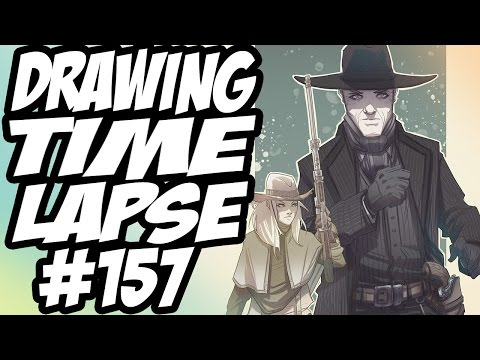 Drawing Time Lapse #157 - Westworld : Armistice / Man In Black