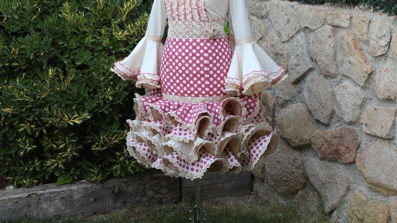 94db0e83dd Falda flamenca corta de mujer. Como hacer una falda de mujer - YouTube