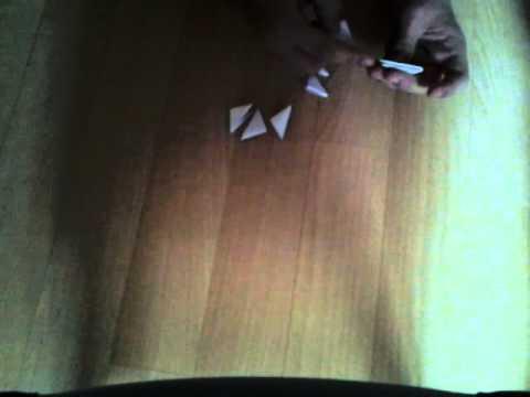 origami 3d facile fleur youtube. Black Bedroom Furniture Sets. Home Design Ideas