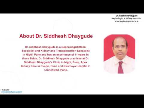 Dr. Siddhesh Dhaygude - Nephrologist/ Renal Specialist & Kidney & Transplantation Specialist in PUNE