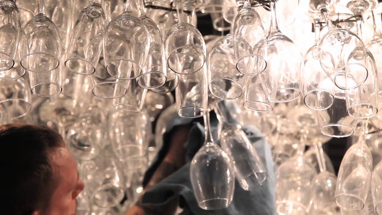 Wine glass chandelier sparkles once again youtube wine glass chandelier sparkles once again aloadofball