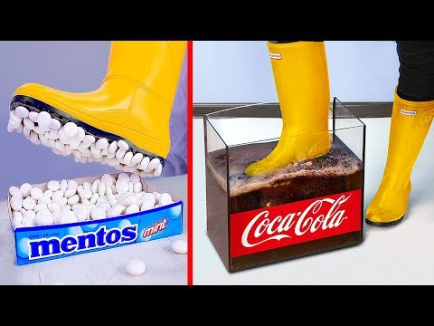 Эксперимент: кока-кола и ментос