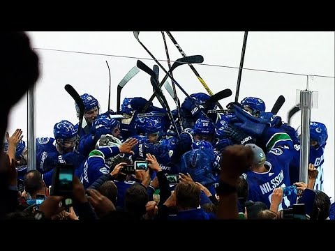 Watch: Sedin twins combine for OT goal in Vancouver farewell