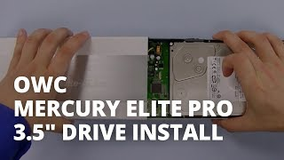 How to Install a 3.5-inch Hard Drive in an OWC Mercury Elite Pro