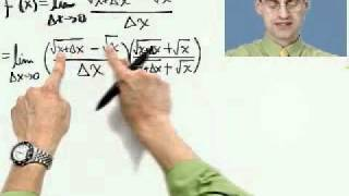 the derivative of the square root function part 1 of 2 from thinkwell s calculus video course