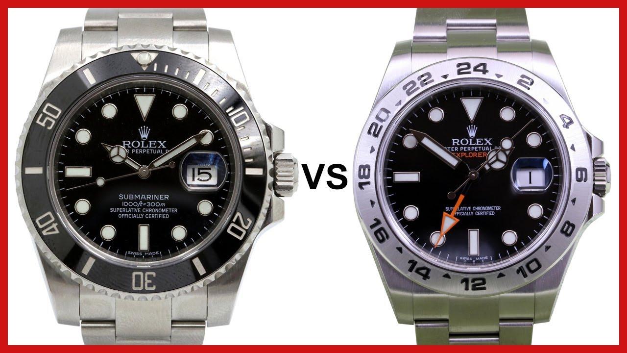 rolex submariner vs explorer ii 42mm gmt comparison