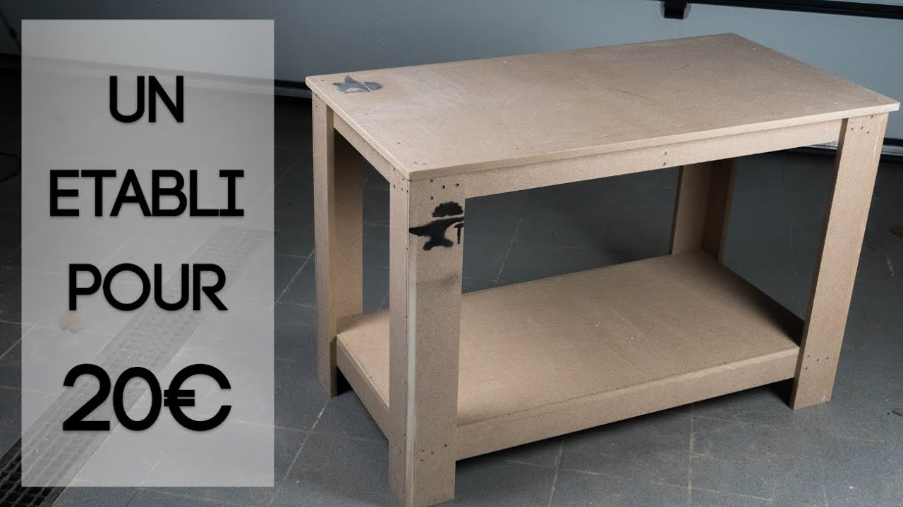 Ultra Fabriquer un établi pour 20 euros! Workbench from 1 Sheet of mdf OC-52