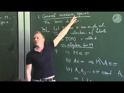 Measure Theory  -Lec05- Frederic Schuller