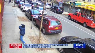 Teen charged with attempted murder in Bronx sidewalk shooting