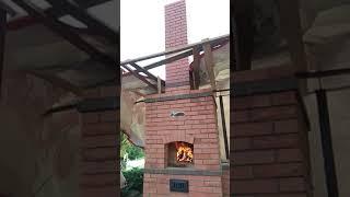 М ни русская печь с плитой и мангалом