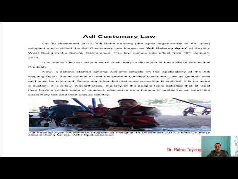 ADI CUSTOMARY LAW