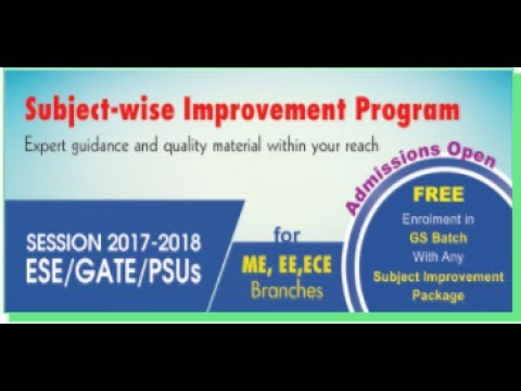 Subject-wise Improvement Program – A Cost Effective Approach to ESE, GATE, and PSUs