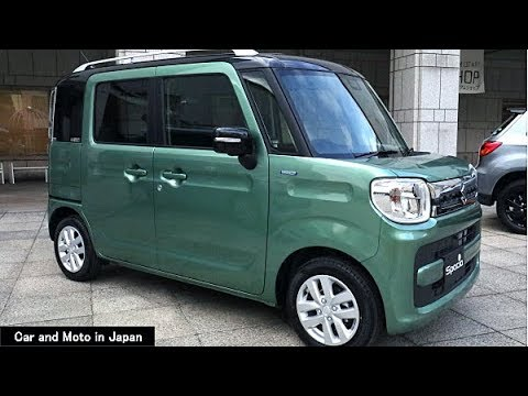 suzuki spacia hybrid x 2 tone roof package green youtube. Black Bedroom Furniture Sets. Home Design Ideas