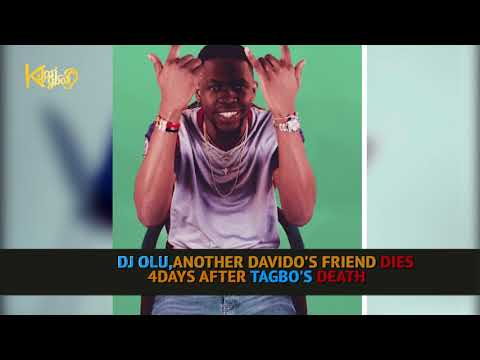 DAVIDO'S FRIEND, DJ OLU REPORTEDLY DIES IN HIS OWN CAR, 4DAYS AFTER TAGBO'S DEATH