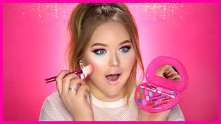 FULL FACE USING ONLY KIDS MAKEUP Challenge | NikkieTutorials by : NikkieTutorials