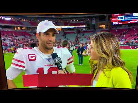 Jimmy Garoppolo And Erin Andrews Postgame Interview 10/31/2019