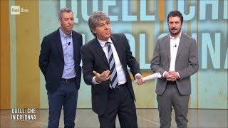 """Paolo Del Debbio in """"Quelli che in colonna"""" - Quelli che il calcio 08/04/2018"""