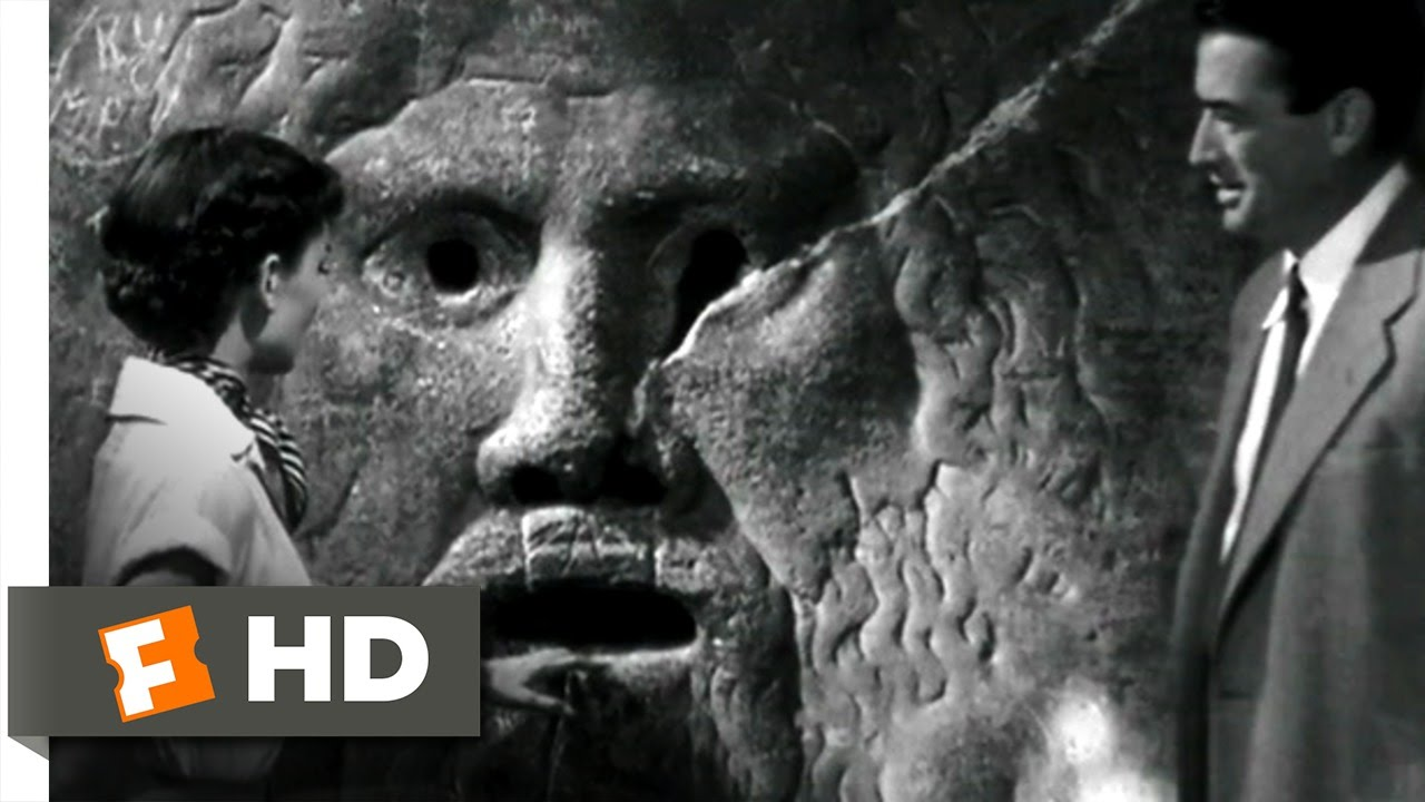 Roman Holiday 210 Movie CLIP  The Mouth of Truth 1953