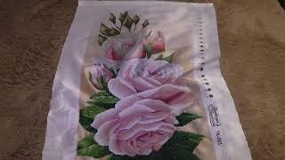 Нежные розы два отчет №6...Вышивка бисером 😊 😊 😊