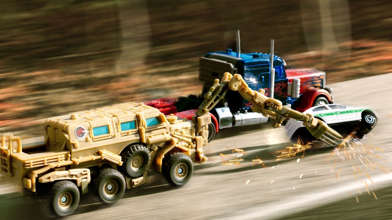 transformers movie 1 optimus prime vs bonecrusher truck