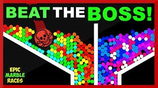 Today's marble race I'm doing a beat the boss marble run again. Thi...