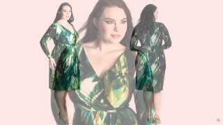 Платье Plus size зеленого цвета - модель Garnet