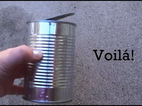 How to Open A Can Without A Can Opener - Outdoor Survival Tip #1